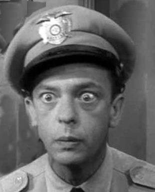Barney Fife. Known for losing his cool.