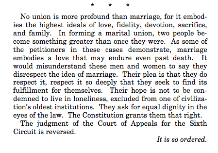 Justice Kennedy writing for the majority